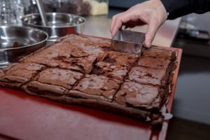 Snijden Brownie