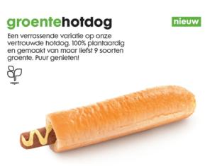 Hema groentehotdog-uitgesneden